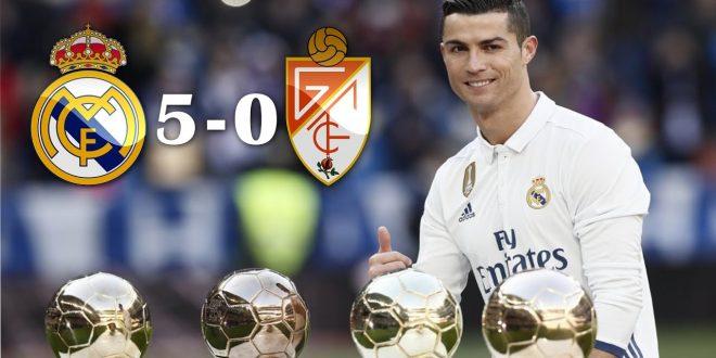 LA LIGA VIDEO: Real Madrid vs Granada 5-0 2016 All Goals & Highlights